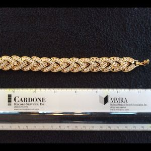 Vintage Gold and Rhinestone Bracelet
